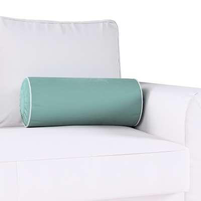 Poduszka wałek z zakładkami z lamówką w kolekcji Velvet, tkanina: 704-18