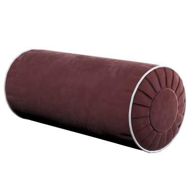 Nakkepute med folder i velur 704-26 Bordeaux Kolleksjon Velvet