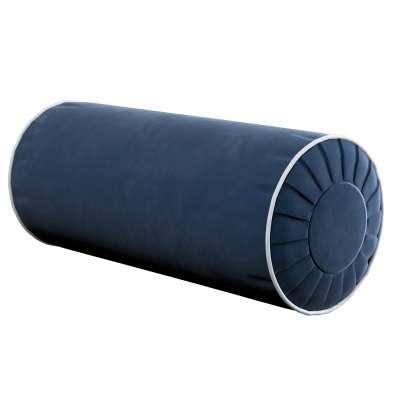 Nackenrolle mit Falten und Einfassband 704-29 dunkelblau Kollektion Velvet