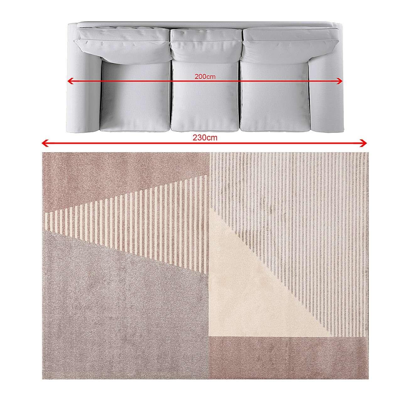 Teppich Sevilla paper white/dusty rose 160x230cm