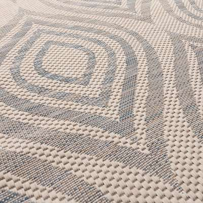 Teppich Breeze wool/raw/blue 200x290cm