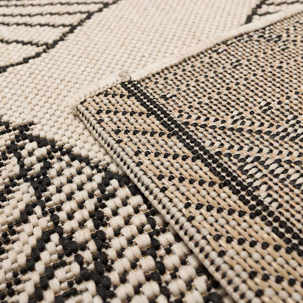 Teppich Cottage wool/black 120x170cm