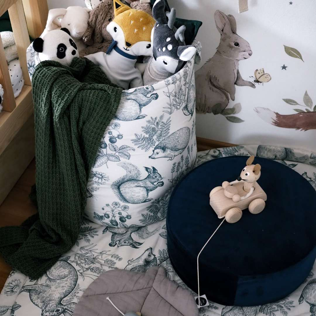 Kosz na zabawki Tobi w kolekcji Cotton Story, tkanina: 702-10