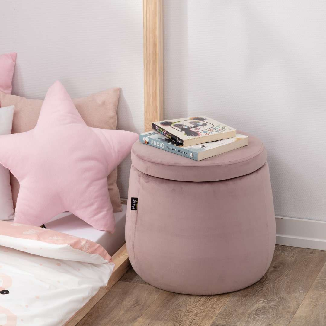 Candy Jar pouf in collection Posh Velvet, fabric: 704-18