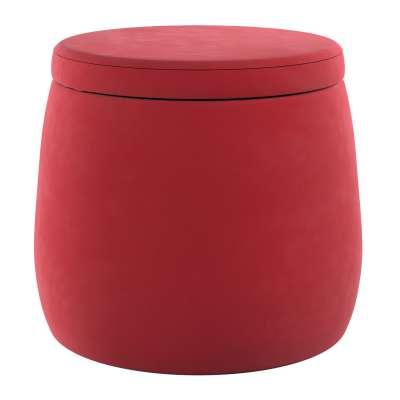 Candy Jar pouf 704-15 cherry red Collection Posh Velvet