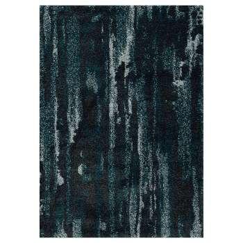 Kilimas Softness near black/peacock blue 120x160cm