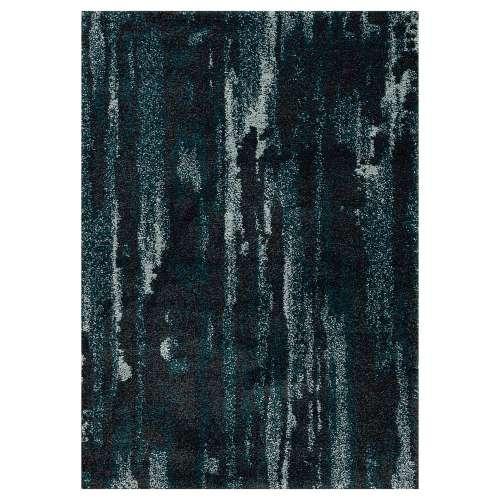 Koberec Softness near black/peacock blue 120x160cm