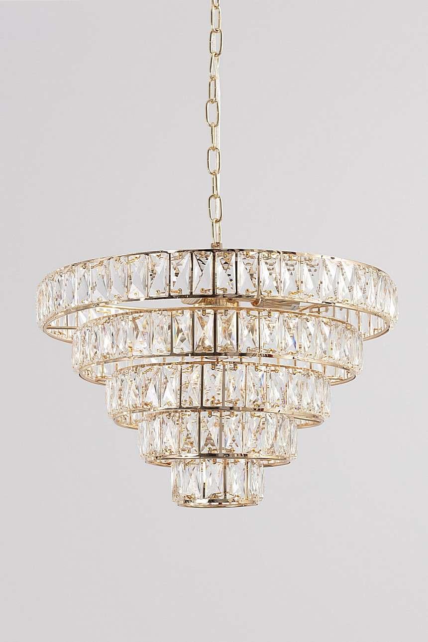 Dekoria Lampa wisząca Crystal Gold