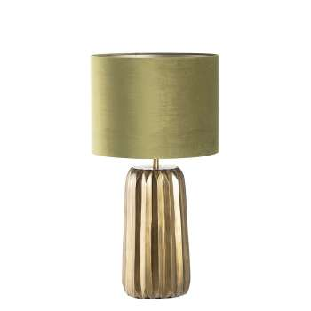 Vyšší stolní lampa Romita Olive Green výška 75,5 cm