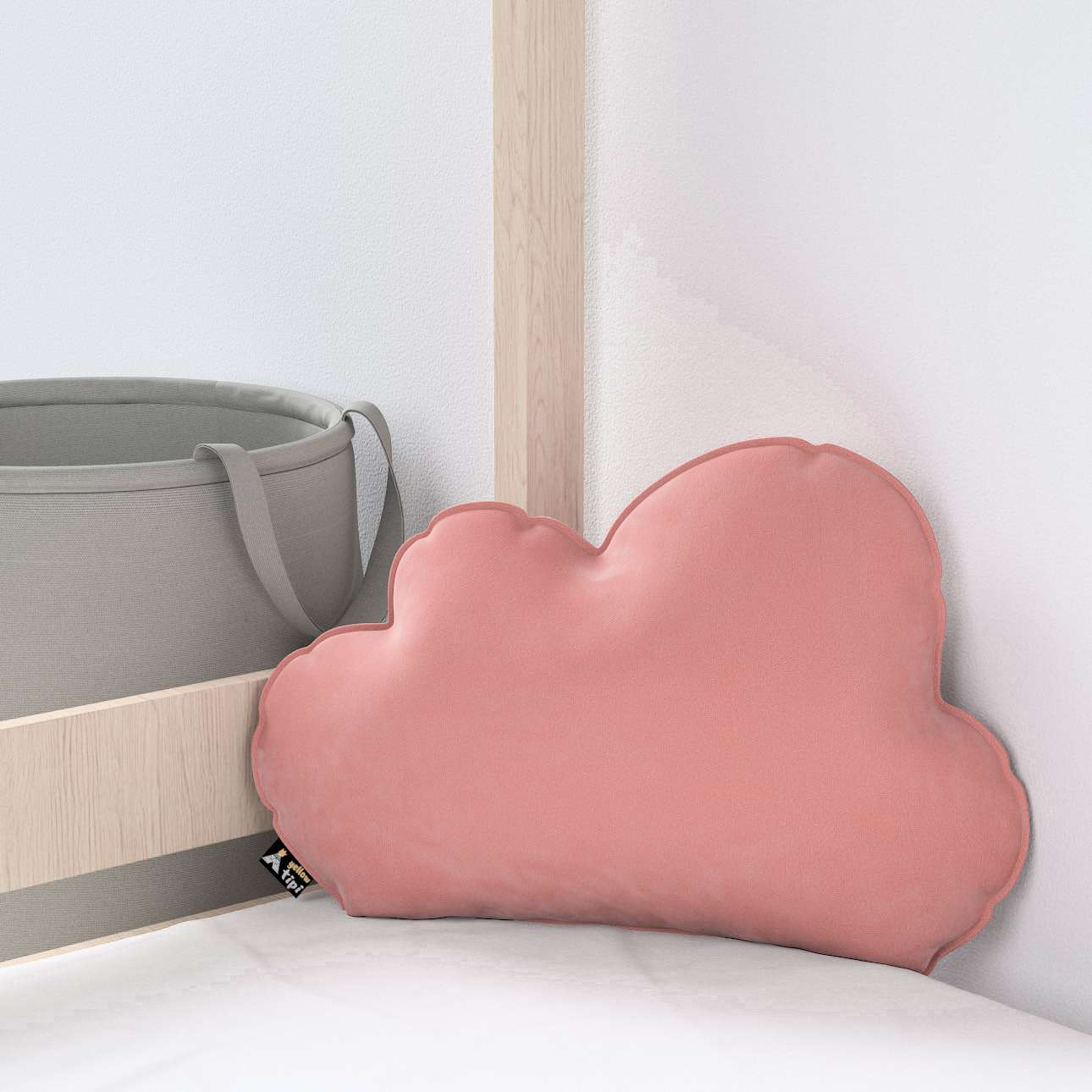 Kissen Soft Cloud von der Kollektion Posh Velvet, Stoff: 704-30