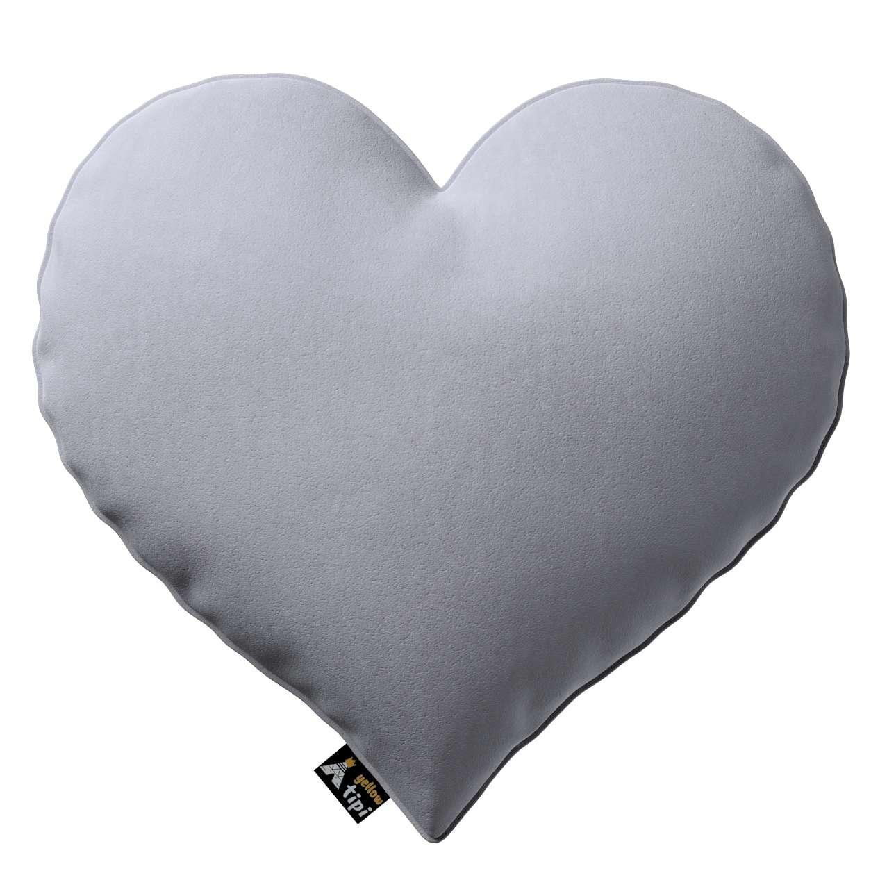 Kissen Heart of Love von der Kollektion Posh Velvet, Stoff: 704-24