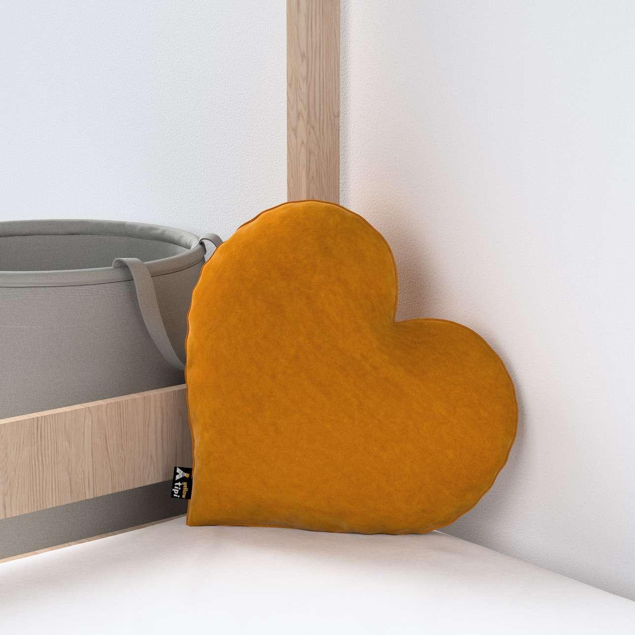 Heart of Love pagalvėlė kolekcijoje Posh Velvet, audinys: 704-23
