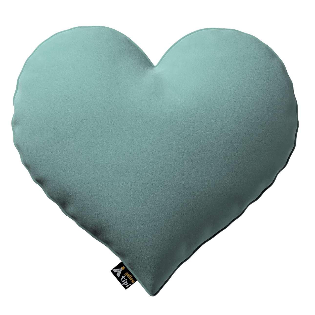 Kissen Heart of Love von der Kollektion Posh Velvet, Stoff: 704-18