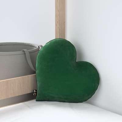 Kissen Heart of Love von der Kollektion Posh Velvet, Stoff: 704-13