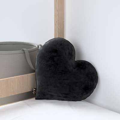 Kissen Heart of Love von der Kollektion Posh Velvet, Stoff: 704-17