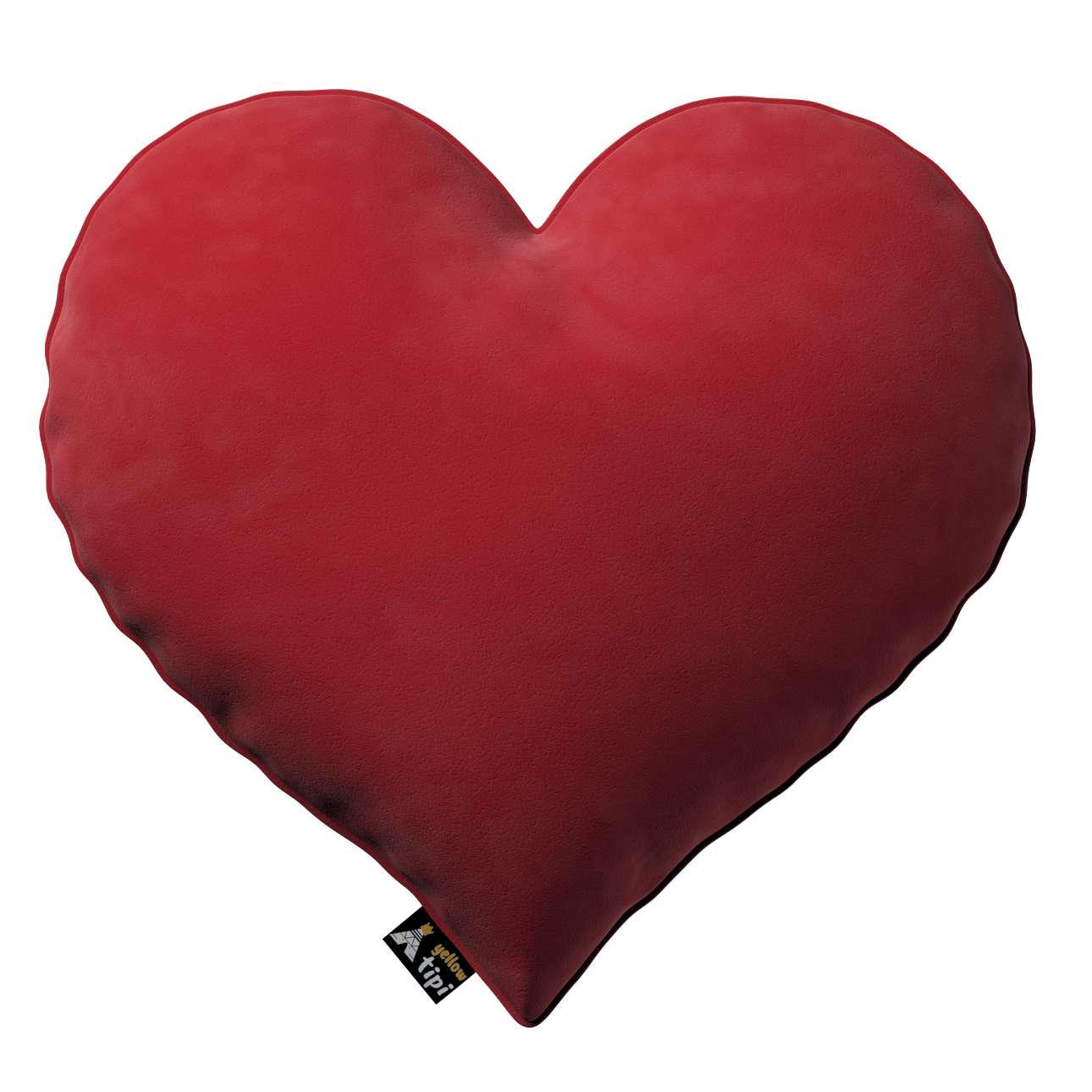 Kissen Heart of Love von der Kollektion Posh Velvet, Stoff: 704-15