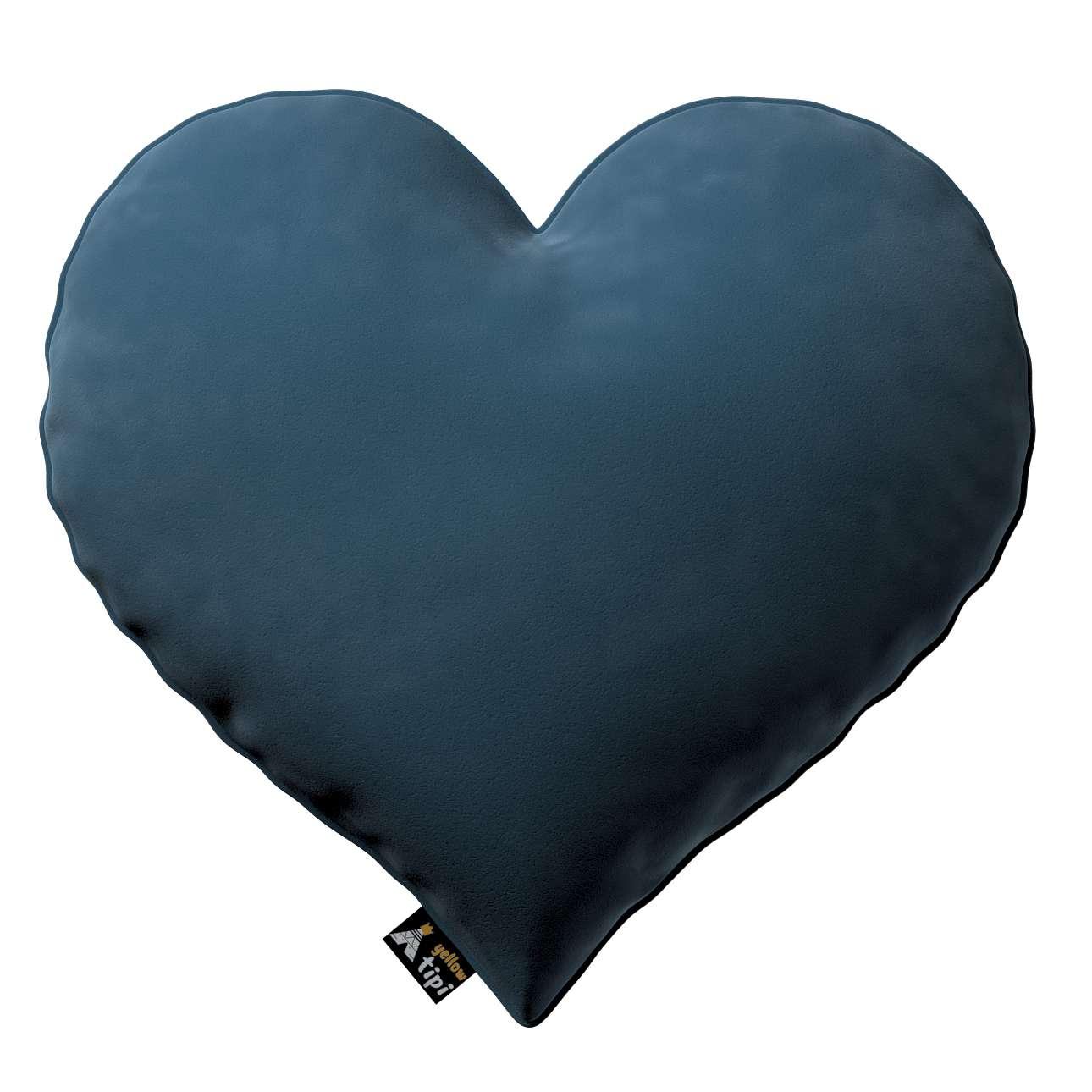 Kissen Heart of Love von der Kollektion Posh Velvet, Stoff: 704-16