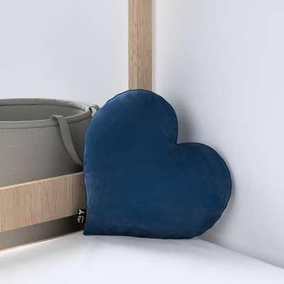Kissen Heart of Love von der Kollektion Posh Velvet, Stoff: 704-29