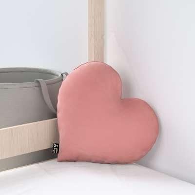 Kissen Heart of Love von der Kollektion Posh Velvet, Stoff: 704-30