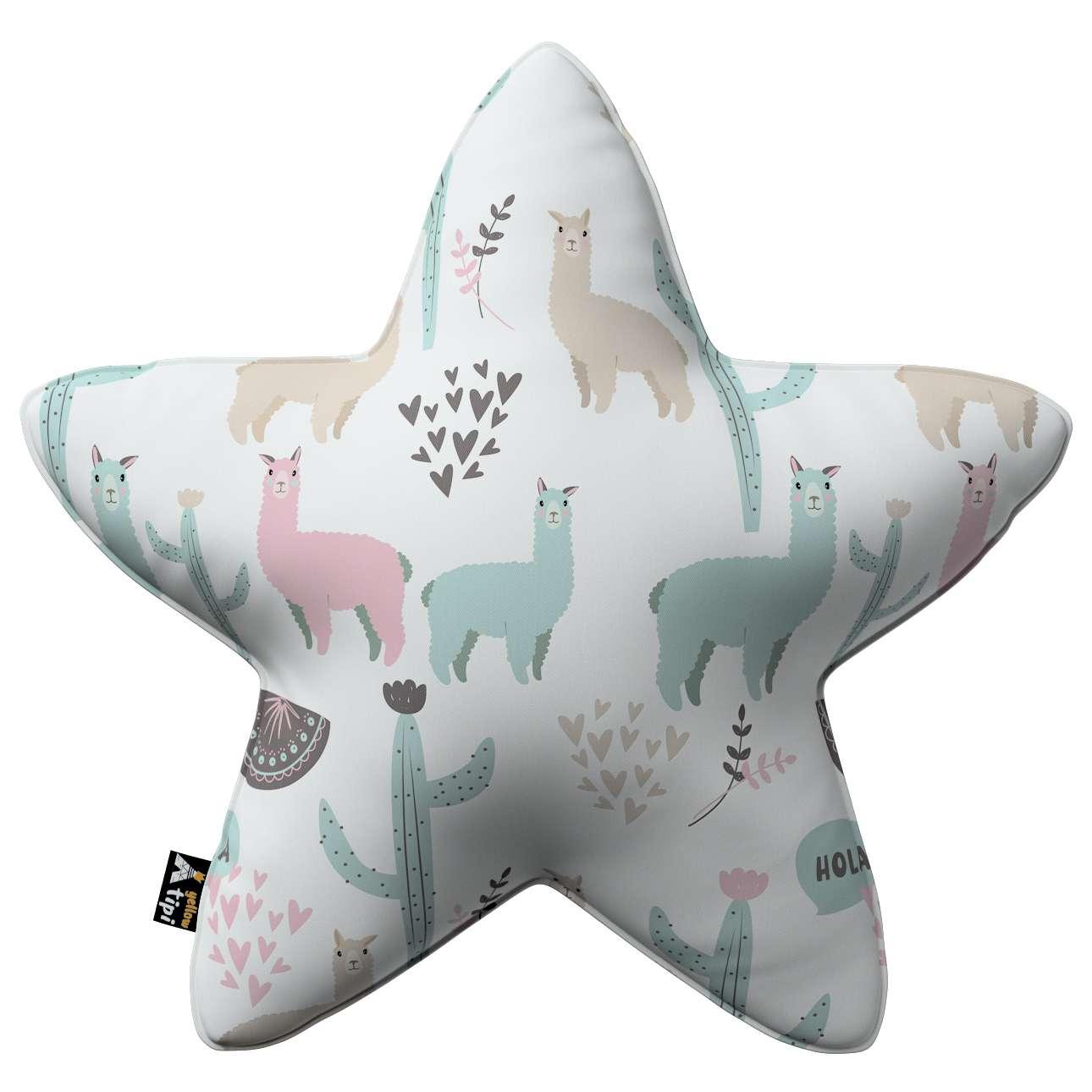Kissen Lucky Star von der Kollektion Magic Collection, Stoff: 500-01