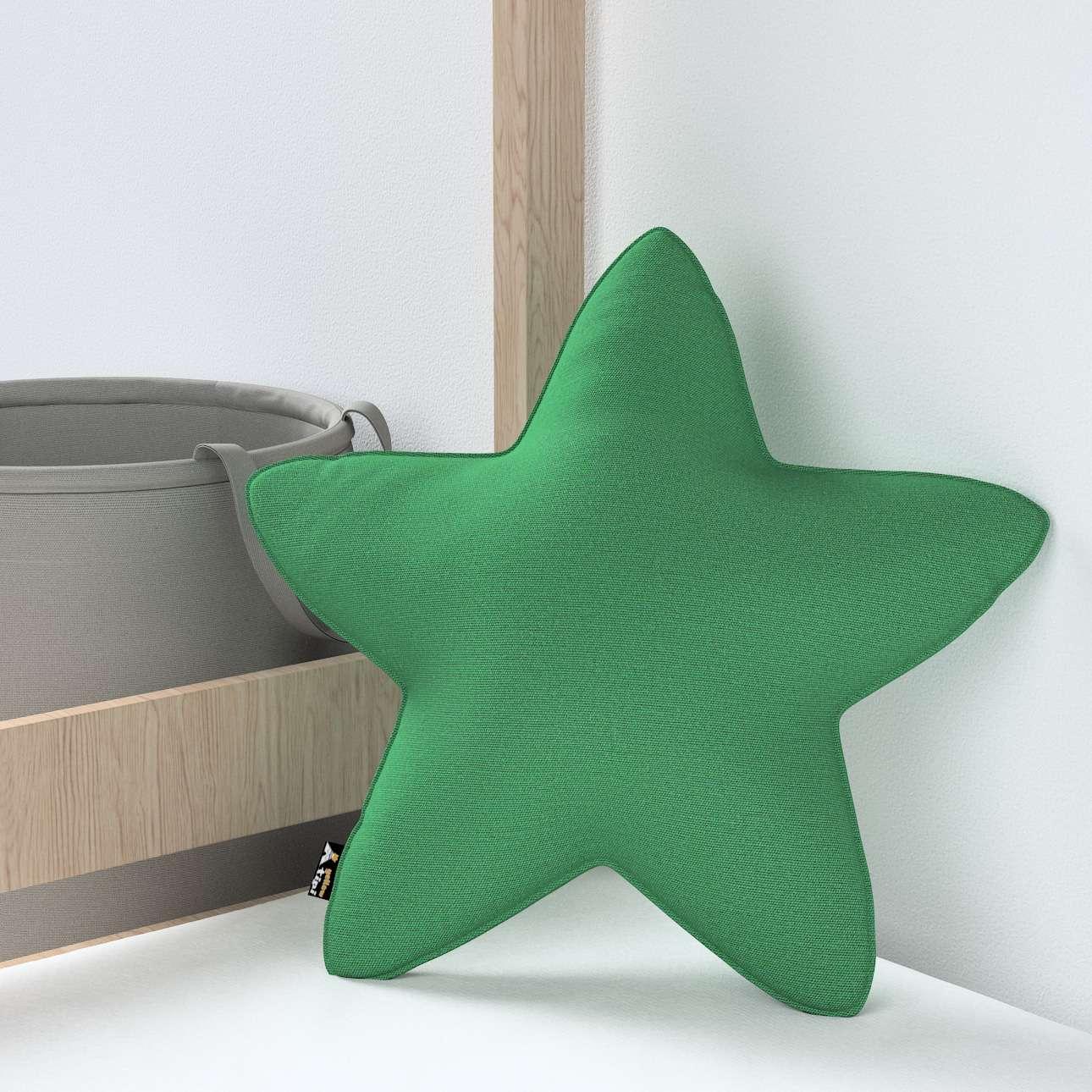 Kissen Lucky Star von der Kollektion Happiness, Stoff: 133-18