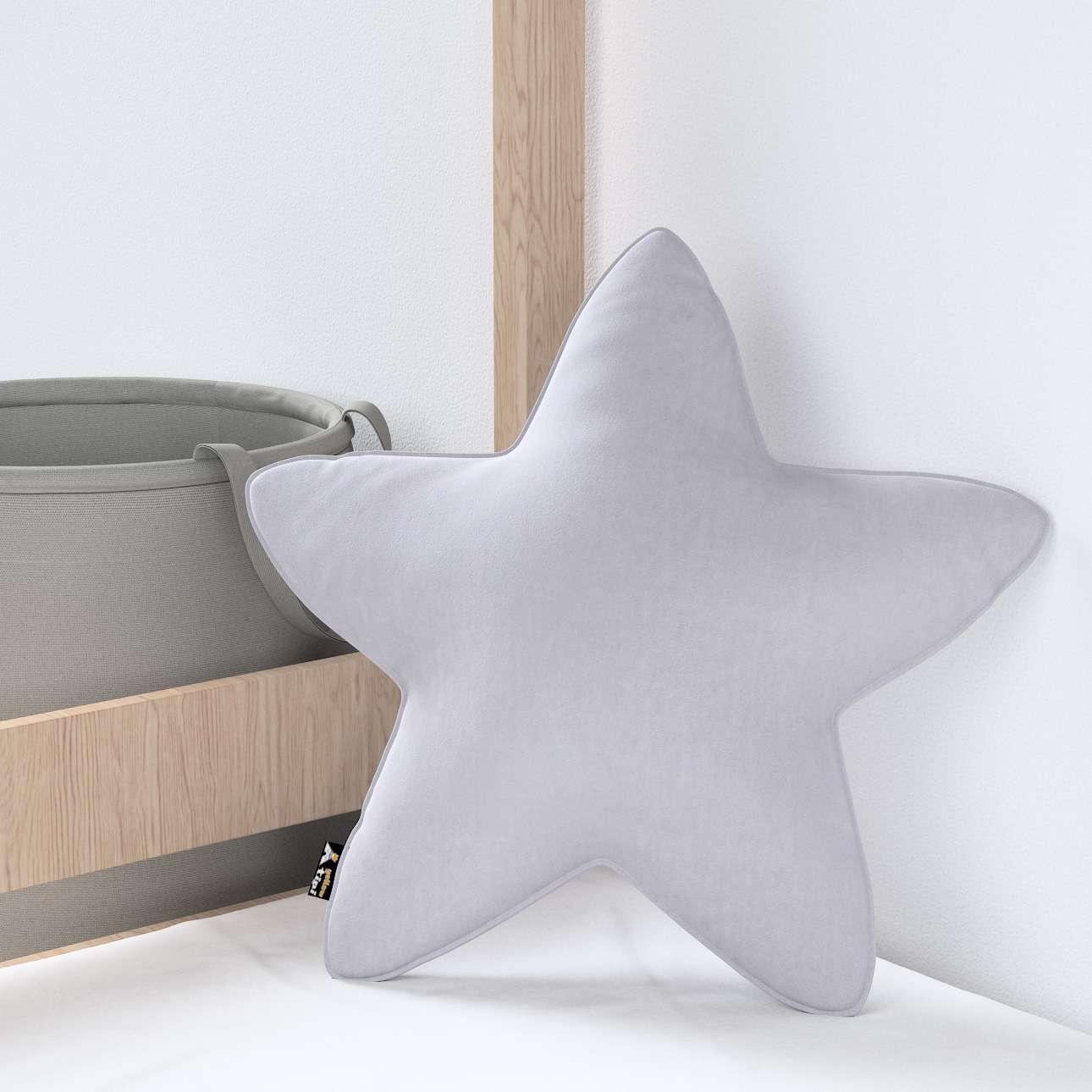Kissen Lucky Star von der Kollektion Posh Velvet, Stoff: 704-24