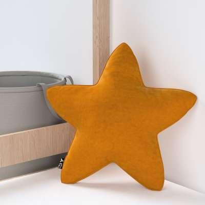 Kissen Lucky Star von der Kollektion Posh Velvet, Stoff: 704-23