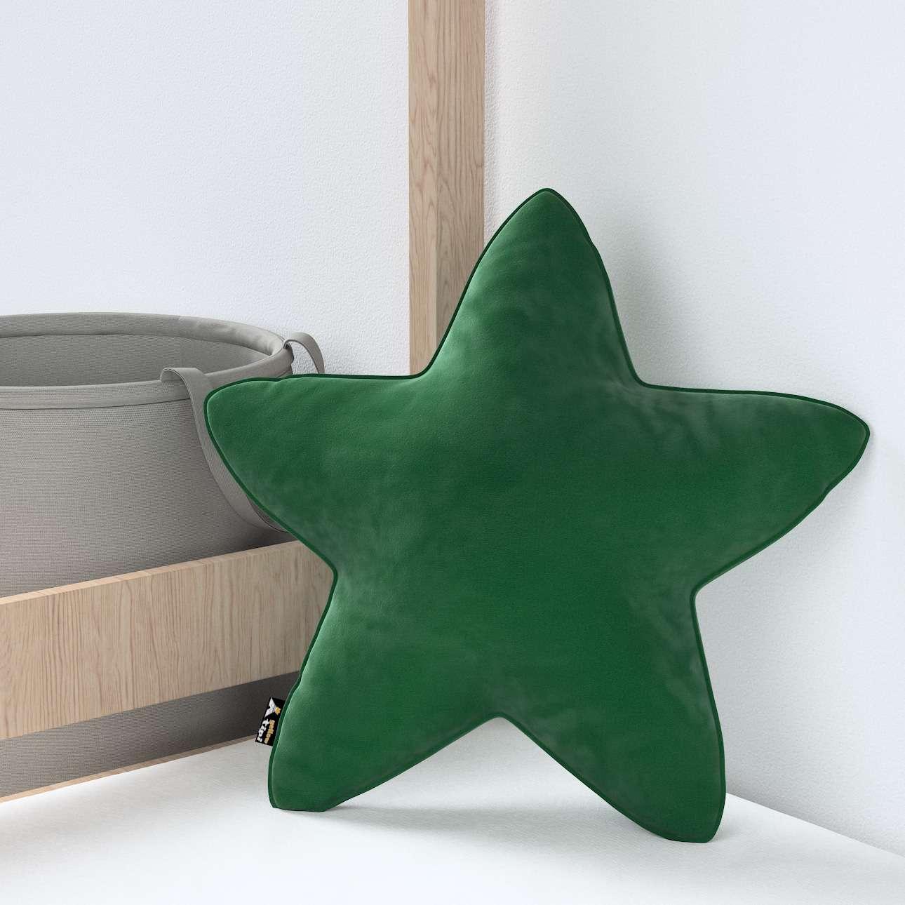 Kissen Lucky Star von der Kollektion Posh Velvet, Stoff: 704-13