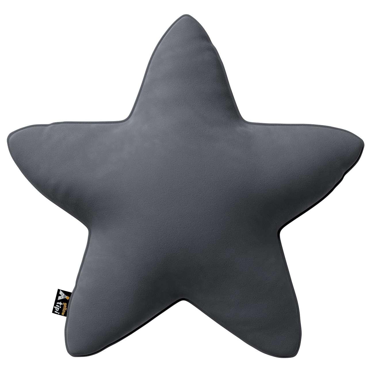 Kissen Lucky Star von der Kollektion Posh Velvet, Stoff: 704-12