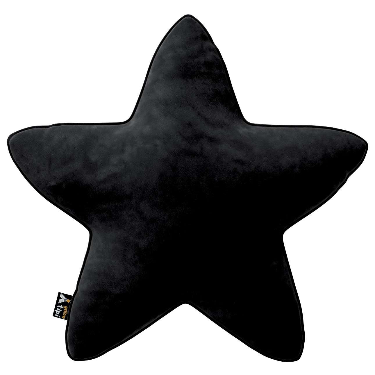 Kissen Lucky Star von der Kollektion Posh Velvet, Stoff: 704-17