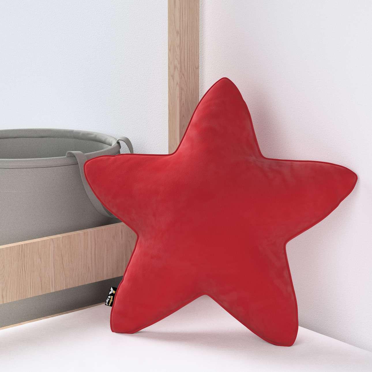 Kissen Lucky Star von der Kollektion Posh Velvet, Stoff: 704-15
