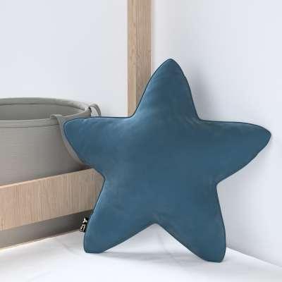 Kissen Lucky Star von der Kollektion Posh Velvet, Stoff: 704-16