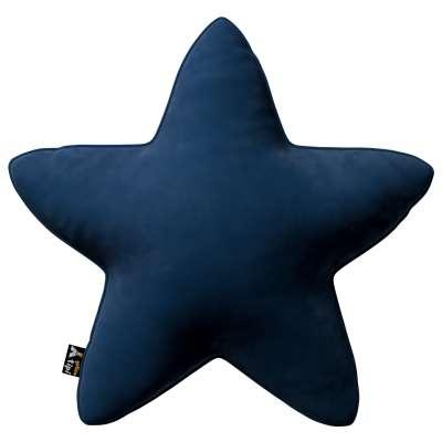 Kissen Lucky Star von der Kollektion Posh Velvet, Stoff: 704-29