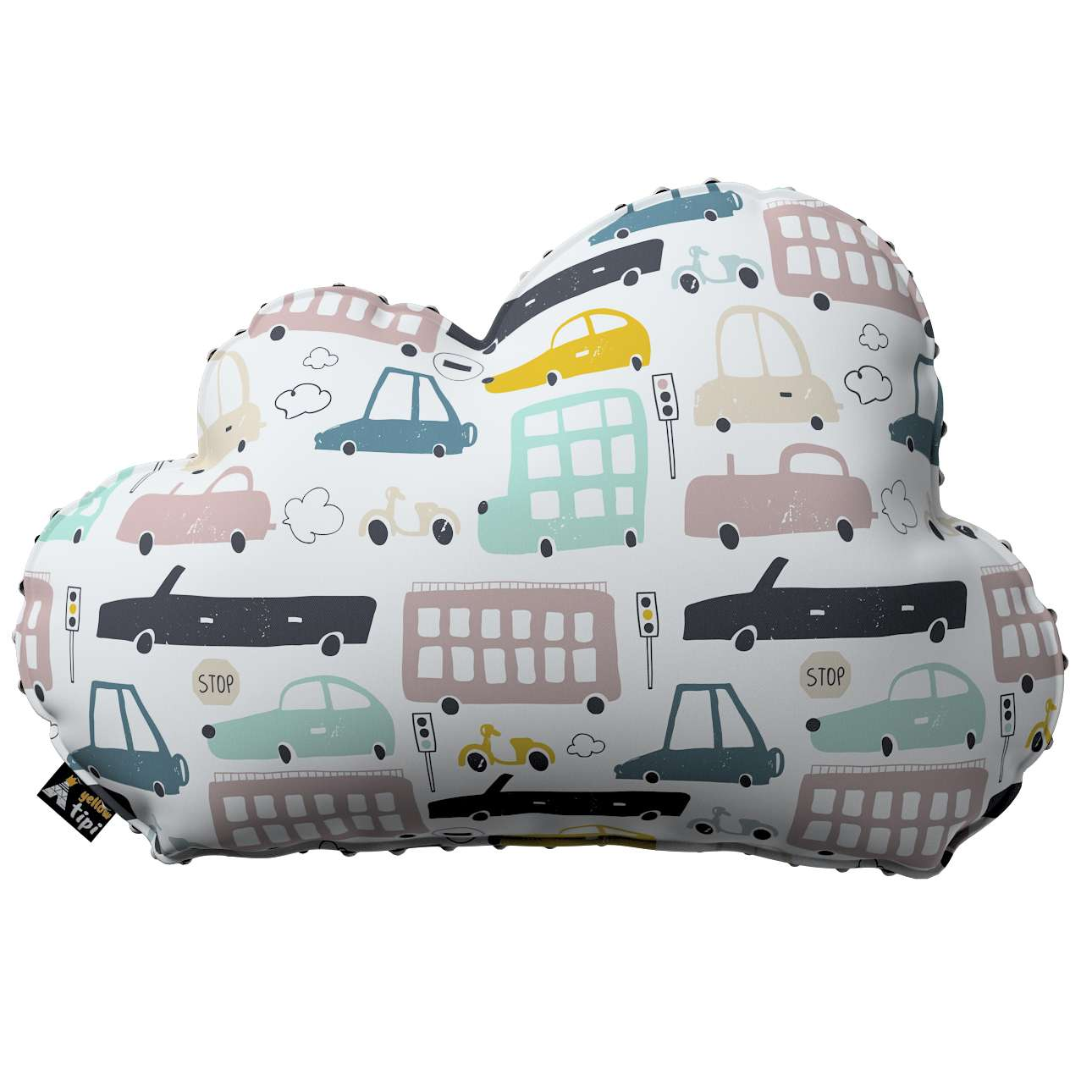 Soft Cloud pillow with minky in collection Magic Collection, fabric: 500-02
