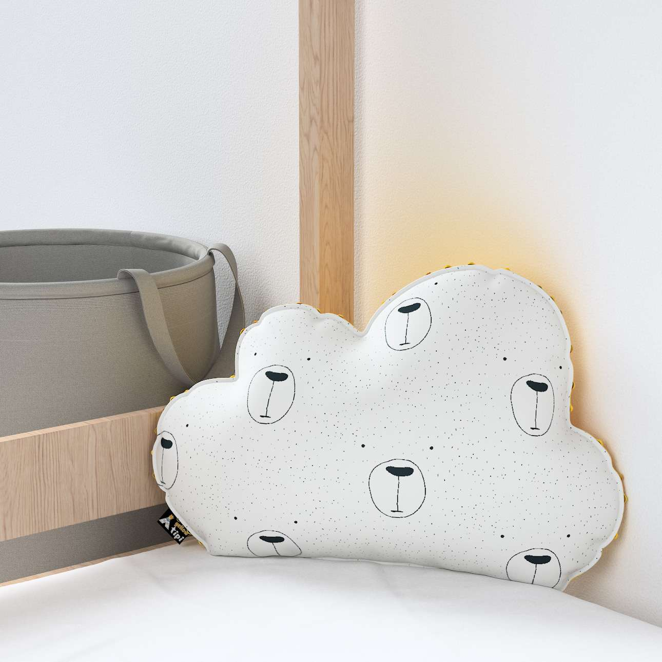 Soft Cloud pillow with minky in collection Magic Collection, fabric: 500-06