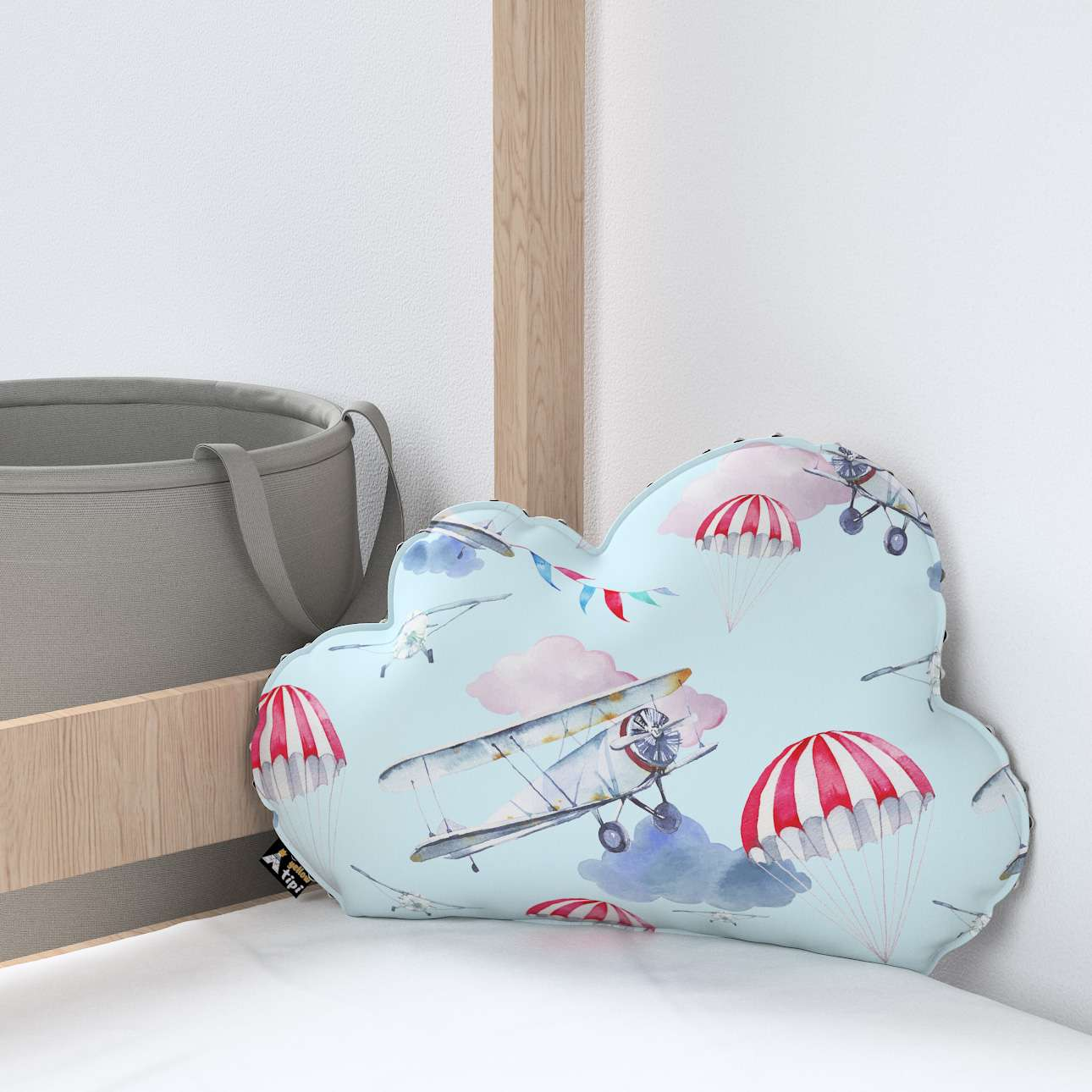Soft Cloud pillow with minky in collection Magic Collection, fabric: 500-10