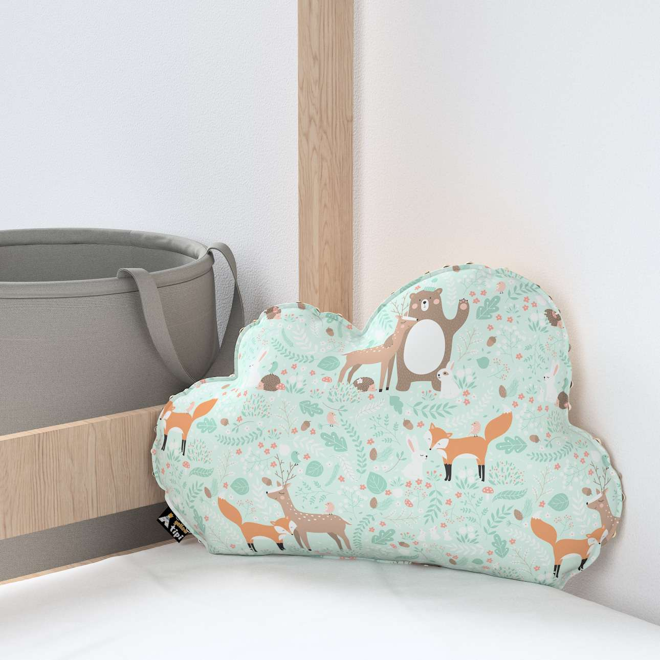 Soft Cloud pillow with minky in collection Magic Collection, fabric: 500-15