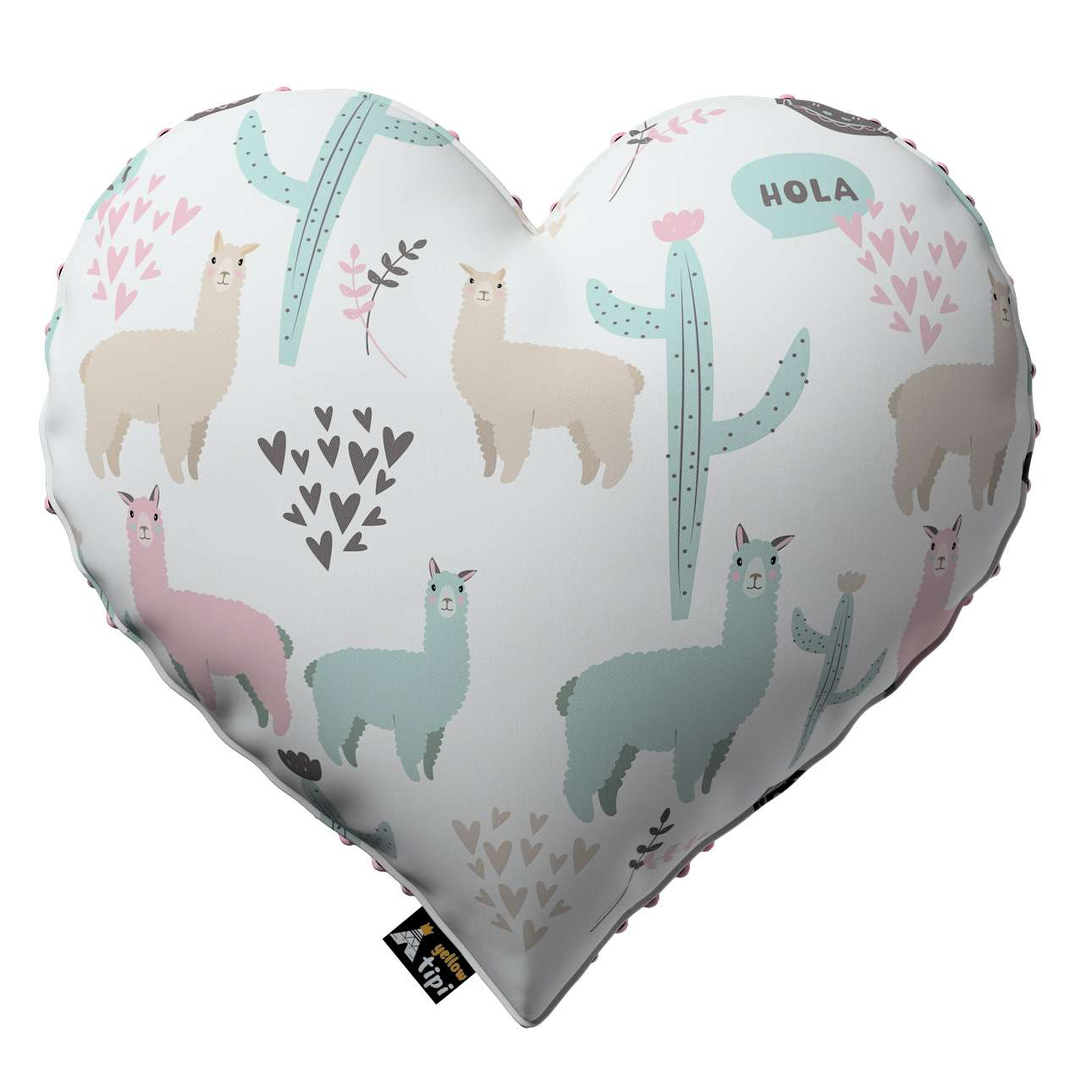 Heart of Love pillow with minky in collection Magic Collection, fabric: 500-01