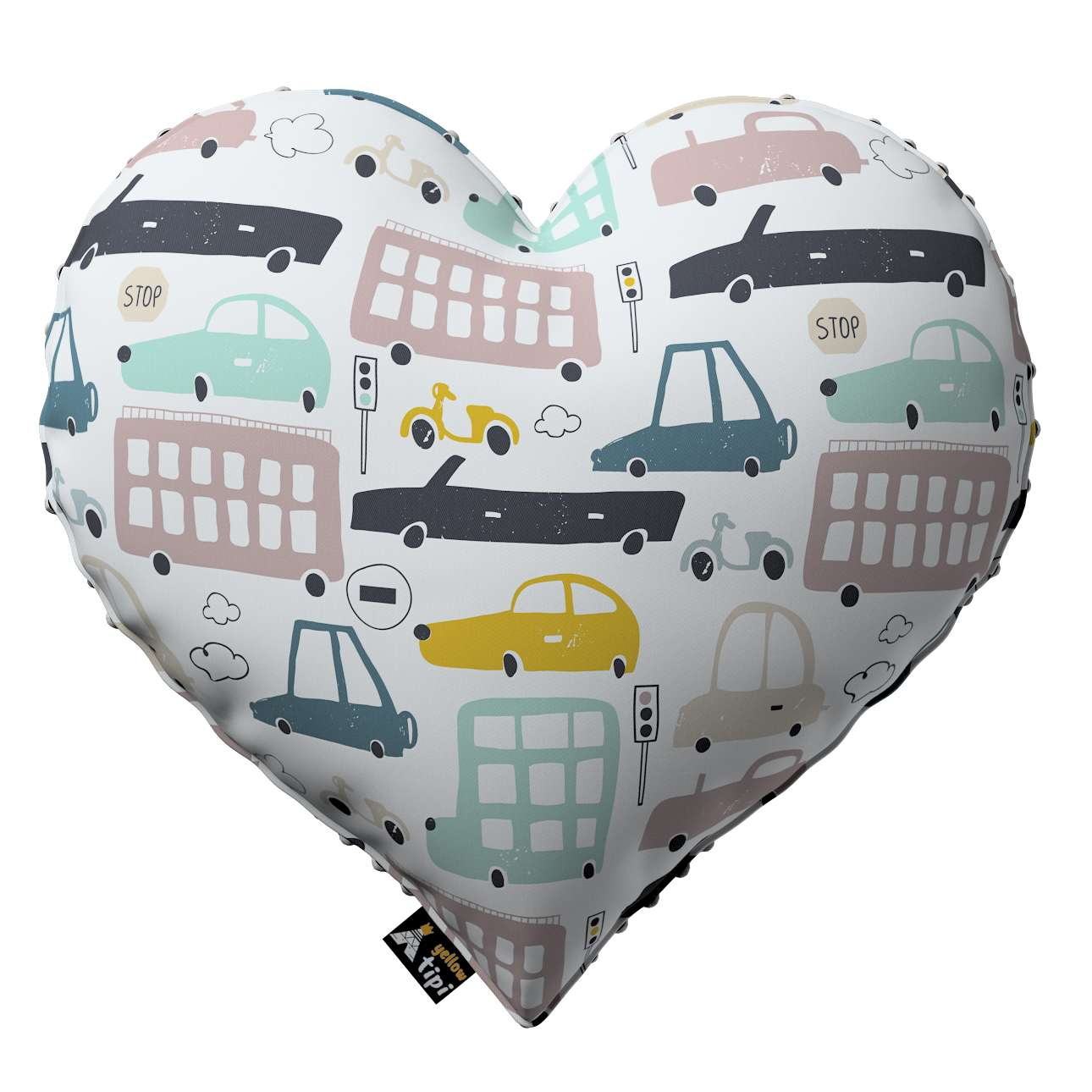 Heart of Love pillow with minky in collection Magic Collection, fabric: 500-02
