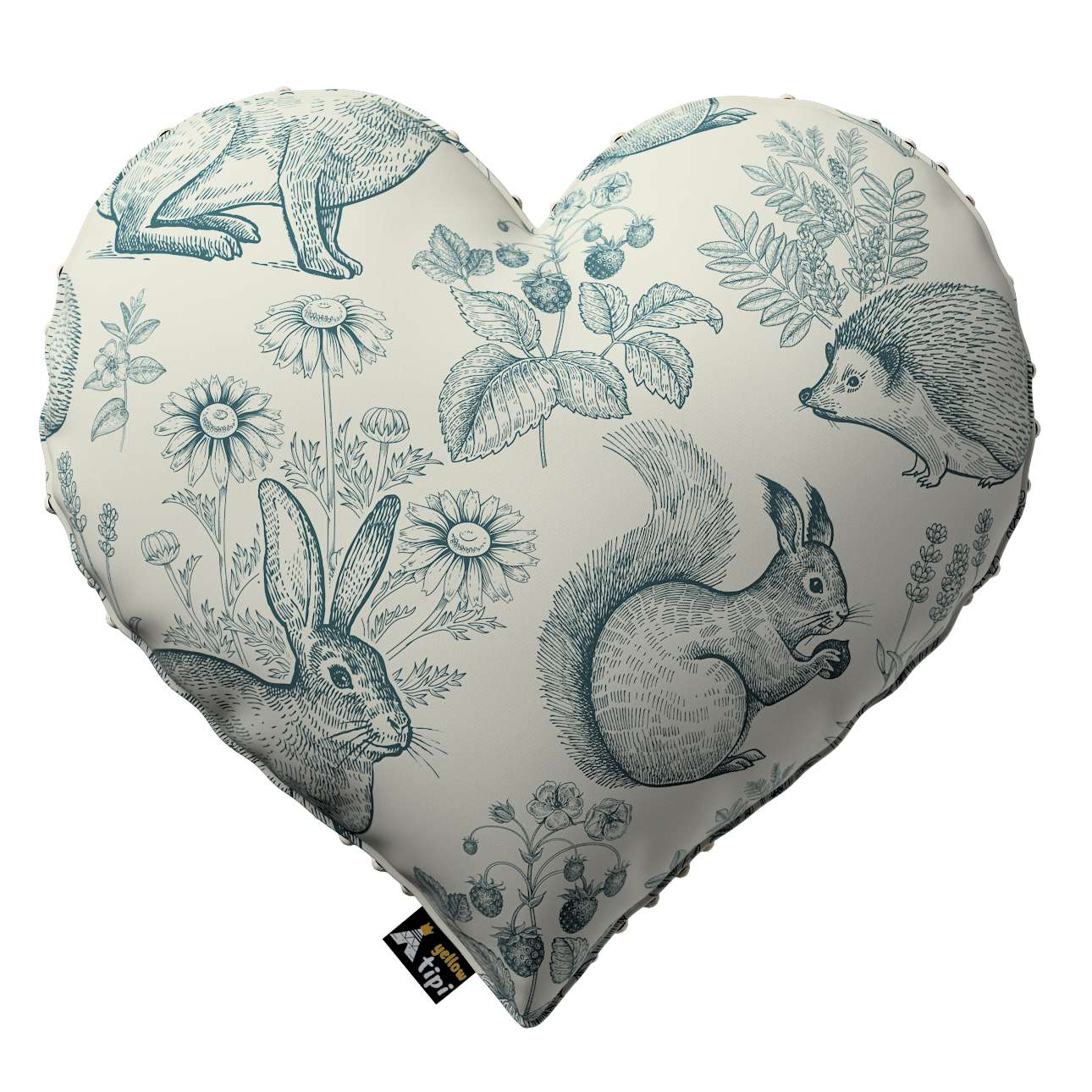 Heart of Love pillow with minky in collection Magic Collection, fabric: 500-04