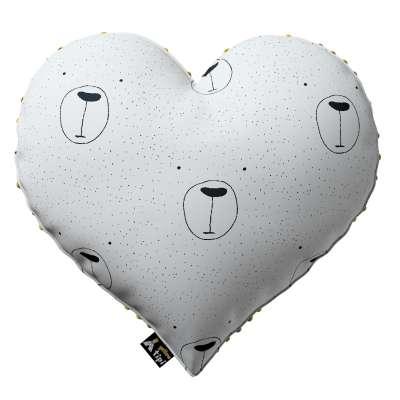 Kissen Heart of Love aus Minky von der Kollektion Magic Collection, Stoff: 500-06