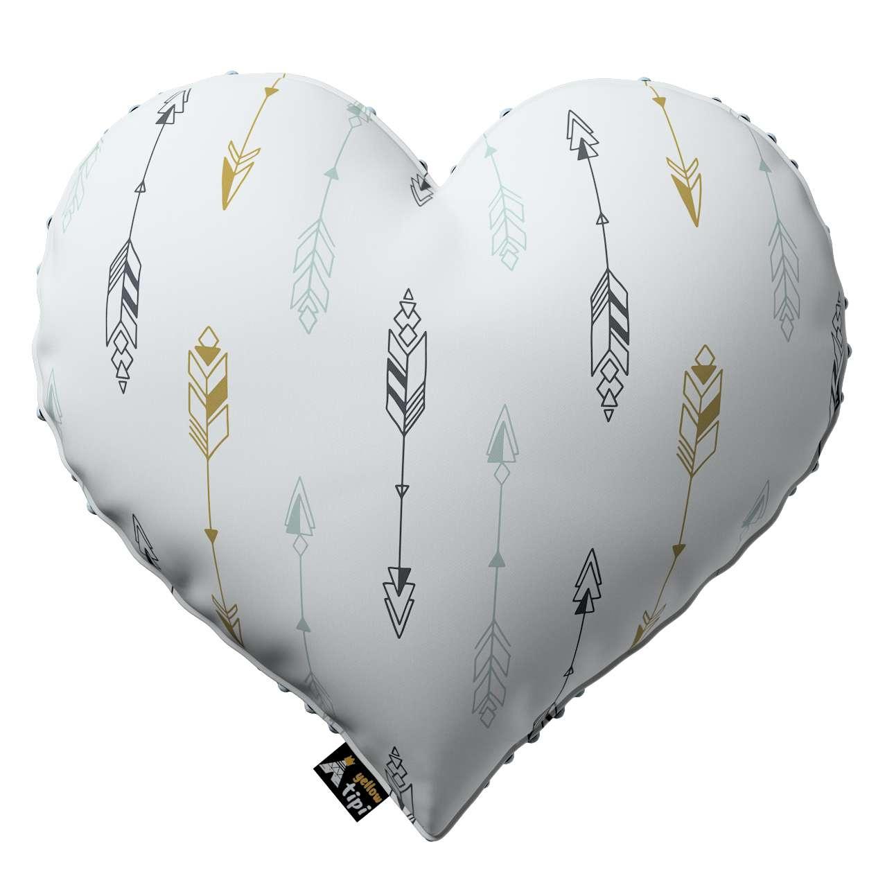 Kissen Heart of Love aus Minky von der Kollektion Magic Collection, Stoff: 500-07