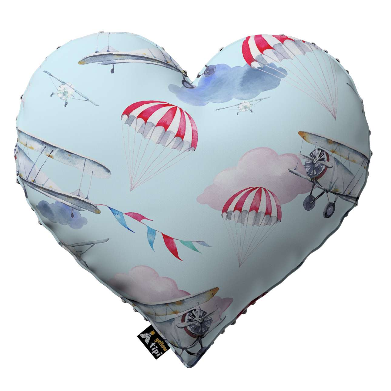 Heart of Love pillow with minky in collection Magic Collection, fabric: 500-10