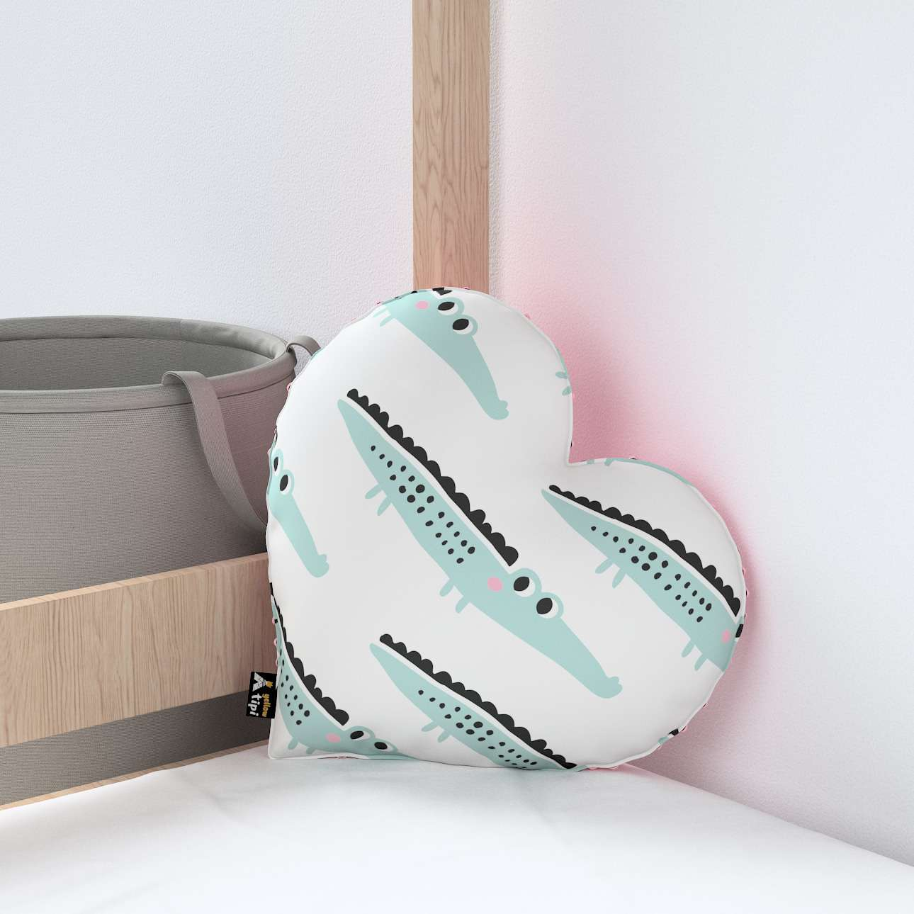 Heart of Love pillow with minky in collection Magic Collection, fabric: 500-11