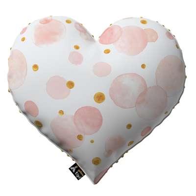 Poduszka Heart of Love z minky 500-13  Kolekcja Magic Collection