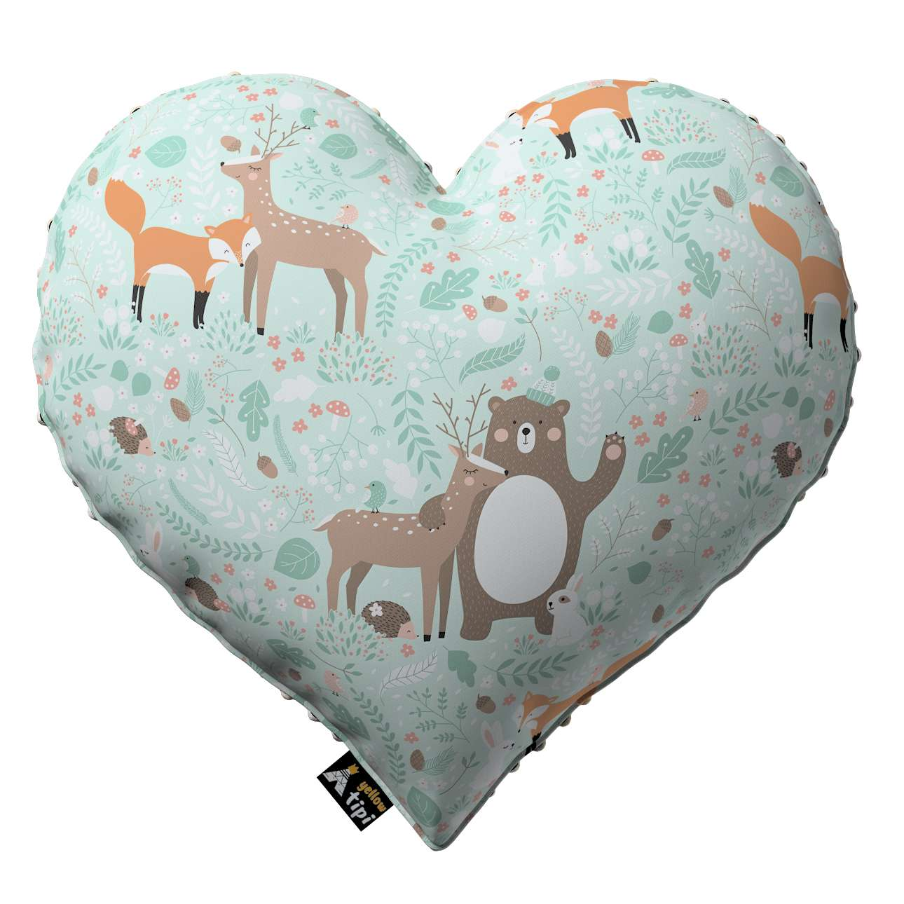 Heart of Love pillow with minky in collection Magic Collection, fabric: 500-15