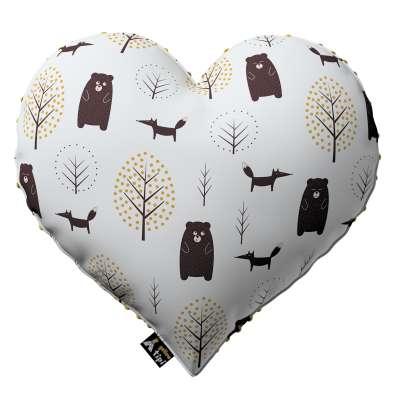 Kissen Heart of Love aus Minky von der Kollektion Magic Collection, Stoff: 500-19