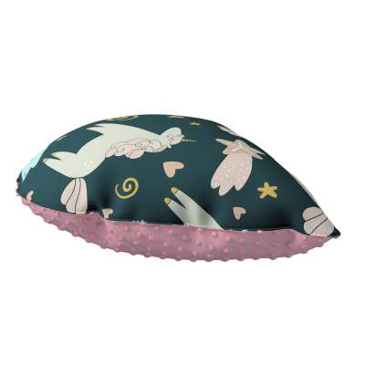 Sweet Drop pillow with minky 500-43 dark blue Collection Magic Collection