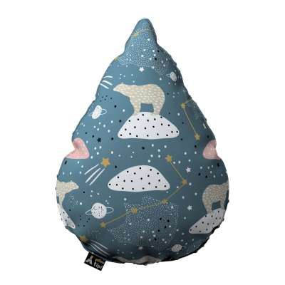 Poduszka Sweet Drop z minky 500-45 niebieski Kolekcja Magic Collection