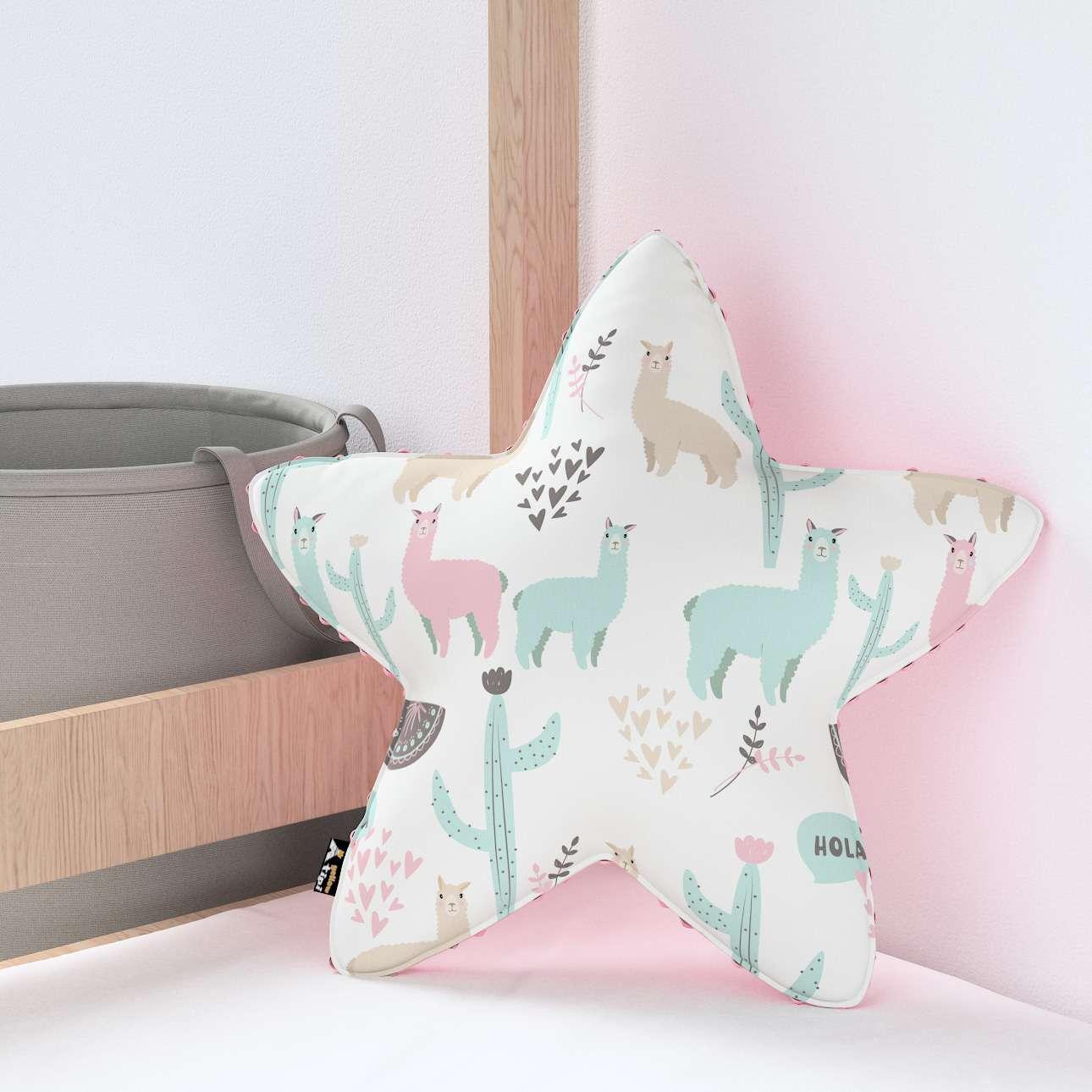 Kissen Lucky Star aus Minky von der Kollektion Magic Collection, Stoff: 500-01